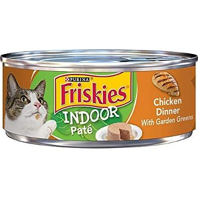 Purina Friskies Indoor Pate Wet Cat Food, Indoor Chicken Dinner With Garden Greens - (24) 5.5 oz. Cans