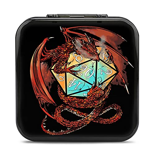 Dungeons And Dragons Game Card Case for Nintendo Switch, Anime Printing Game Storage Box Shockproof Protective Portable Case Box with 24 Cartridge Slots for Nintendo Switch and Switch Lite Game Cards