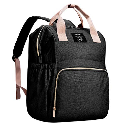 Backpack Diaper Bag for Baby,OSOCE Multi-Function Mom Nappy Maternity Back Packs,Water Resistant(Black)