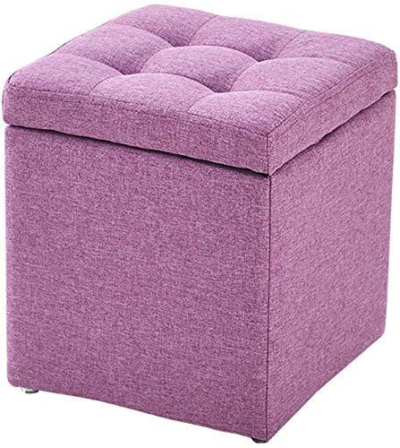 Otomanas Taburete tapizado para almacenamiento, taburete para pies, cubo, puf otomano, asiento de banco, caja de juguetes, bandeja para otomana, caja organizadora, puf, pecho, zapatero, taburete