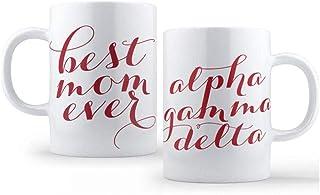 AGD Alpha Gamma Delta Best Mom Ever Sorority Coffee Mug