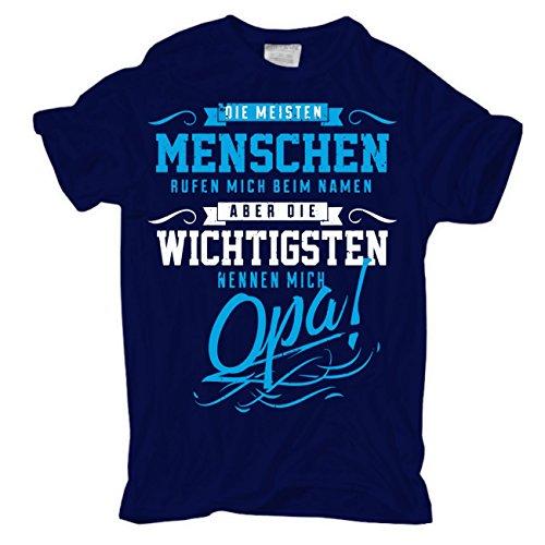 Männer und Herren T-Shirt Die wichtigsten nennen Mich Opa