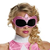 Disguise Women's Pink Ranger Adult 1/4 Costume Accessory Mask, Pink, One Size