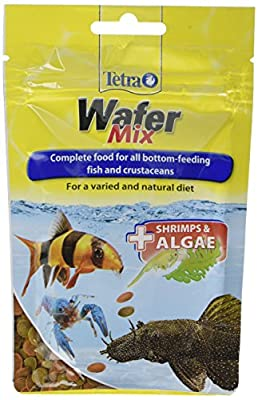 Tetra Fish Food Variety Wafers, Complete Fish Food for All Bottom-Feeding Fish and Crustaceans, 68 g by Tetra