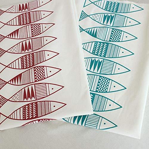 KIU Meter Bedrukte vis katoen en linnen stof DIY gordijn bank thuis decor katoen stof