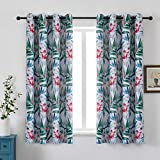 Flowers Window Curtains Floral D...