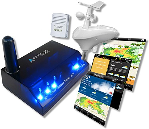 WeatherSleuth® - Stazione meteo wireless, professionale, con IP, monitoraggio in tempo reale via Internet, guida per principianti in formato eBook (lingua italiana non garantita)