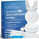 AsaVea Premium Teeth Whitening Kit, LED Light, At-Home System Without Pain or Sensitivity, Effectively Removes Stains...