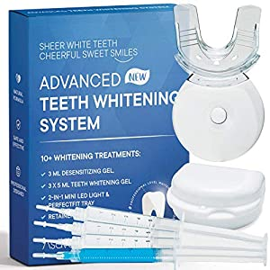 AsaVea Premium Teeth Whitening Kit Led Light