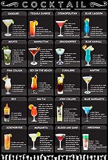 Metalen Cocktail Menu Tin Sign Retro Mixologie Recept Liefhebbers Gids Bar Pub Decor Drinken Alcoholische Poster,Grot Mann...