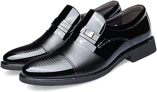 LUCKYHUNTER Hommes Chaussures De Ville à Lacets Lacets en Cuir pour Hommes d'affaires Occasionnels Chaussures pour,noir-EU40  nous offrons diverses marques célèbres