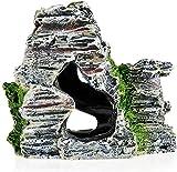 Para oficinas jardín sala de familia ornamentos abstractos figurines arte estatuas de regalo y esculturas decoración al aire libre para jardín, vista a la montaña Moss árbol casa resina cueva cueva pe