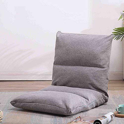 WUTONG Klappstühle Indoor Stressless Recliner Chair Bodenstuhl für Kinder Erwachsene Fenstersitzkissen Gepolsterte Tatami-Matte - Erhältlich in 5 Farben