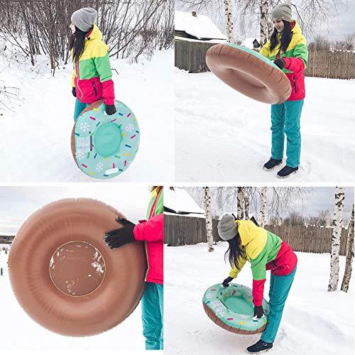 lossomly Sports Schlitten Reifen Schlitten Aufblasbare Schneerohr Schlitteln Rohre Mit Griff Für Kinder Und Erwachsene Geeignet-ein Ideales Spielzeug Für Den Winter easy to use