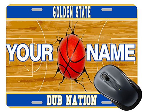 BRGiftShop Personalize Your Own Dub Nation Basketball Team Golden State License Plate Square Mouse Pad