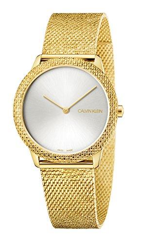 Reloj Calvin Klein Reloj Analógico-Digital para Adultos Unisex de Cuarzo con Correa en Aleación 1