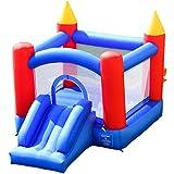 Costway Château Gonflable pour Enfants avec Zone de Saut Murs en Maille des 4 Côtés 300x200x200CM pour 3 Enfants 3+ Ans Capacité Max 50KG Souffleur Non Inclus