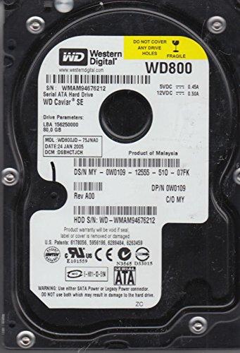 Western Digital WD800JD-75JNA0 80GB, Internal Hard Drive