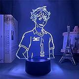 Lampada A Illusione 3D Luce Notturna A Led Haikyuu Toru Oikawa Anime Haikyuu Lampada Da Tavolo Per La Decorazione Domestica Migliori Regali Di Festa Di Compleanno Per I Bambini