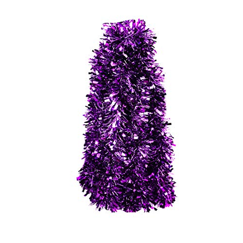 VEYLIN Lametta für Weihnachtsdekoration, 10 m, Violett