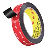 3M 5925 Double Sided Tape, Roseberry Heavy Duty 3M Mounting Waterproof VHB Foam Tape, 16FT Length, 0.94 Inch Width for Car Decor,Home Decor and Office Decor