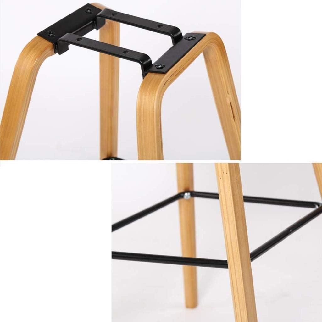 Mlzaq Ménage Bar en bois Tabouret multi-fonction Coussin coton épais avec dossier Respirant Casual Chaise simple (Color : G) F
