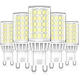 Bombillas LED G9 6W, Blanco Frío 6000K, Repuesto Lámparas Halógenas 50W 60W, LED G9 ángulo Haz de 360° Sin Parpadeo, No...