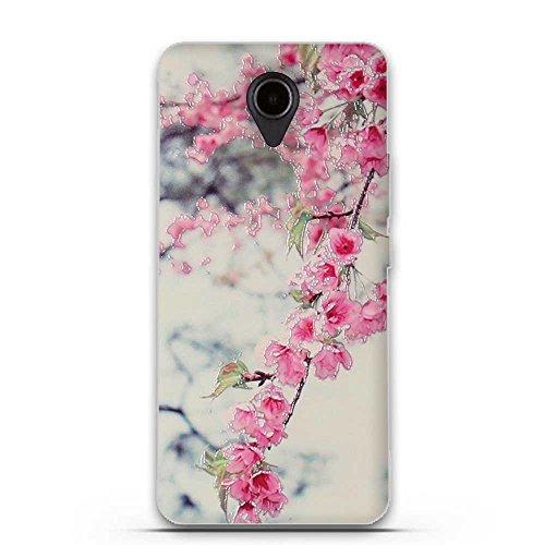 FUBAODA für Huawei Ascend Y635 Hülle, 3D Erleichterung Schöne Blume Muster TPU Hülle Schutzhülle Silikon Hülle für Huawei Ascend Y635