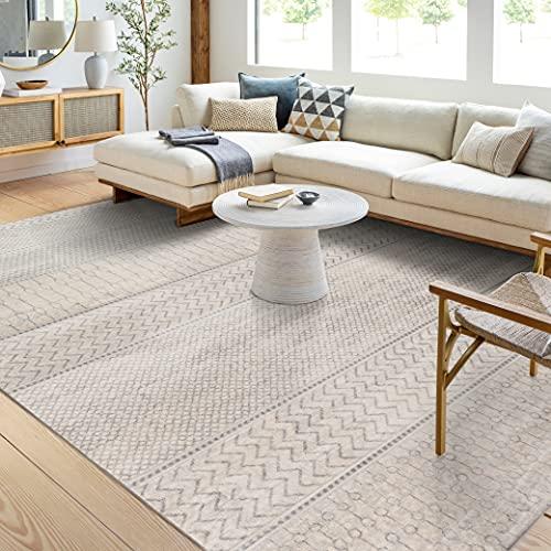 Artistic Weavers Hana Modern Moroccan Area Rug, 7'10' x 10'3', Silver Grey