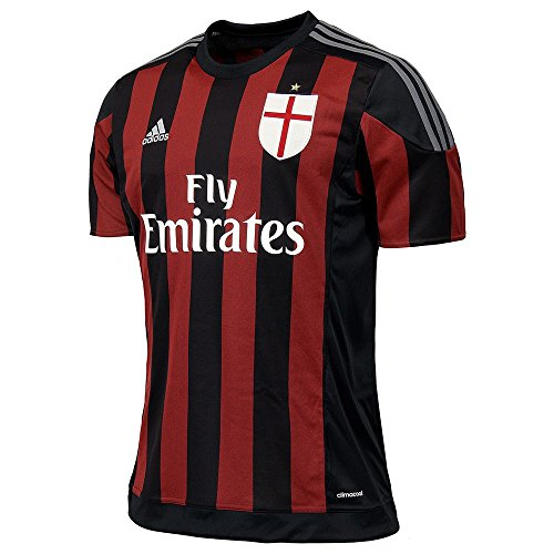 adidas Performance Kinder Heimtrikot AC Milan Saison 2015/16 schwarz/rot (701) 140