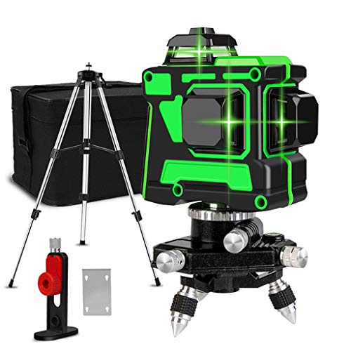 Nivel Láser Verde, 360 ° Profesional 12 Líneas Autonivelación Nivel Láser Verde...