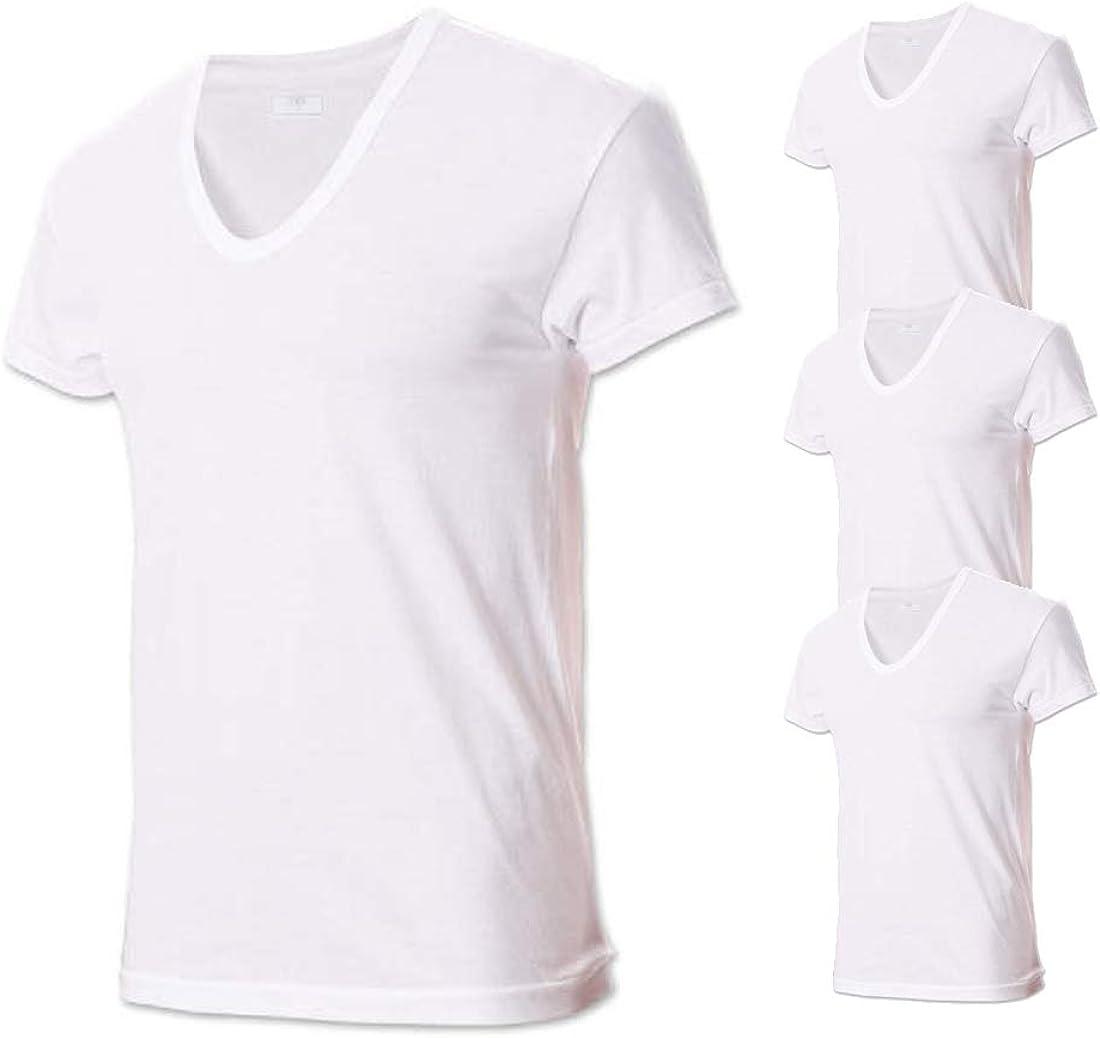 Try Men's Max 71% OFF Premium Basic Running Co Undershirts Short service Sleeve 100%
