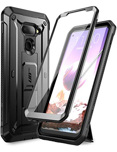 SUPCASE Unicorn Beetle Pro Series Case Designed for LG Q70 (2019 Release), Full-Body Rugged Holster & Kickstand Case with Built-in Screen Protector (Black)