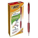 BIC Atlantis Classic - Caja de 12 bolígrafos, 12, color rojo