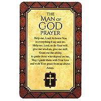神の男の祈り ナチュラルブラウン 4 x 2.5インチ カードストックブックマーク 12個パック