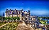 ARjzap Puzzle de 1000 Piezas para Adultos_Mapa del Paisaje del Valle del Loira_Inteligencia Jigsaw Puzzles_Juego de Habilidad Familiar_50x75cm(19.68x29.52 in)