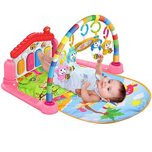 Surreal 3-in-1-Spielmatte für Babys mit Baby-Klavier, Spielmöglichkeiten, Musik und Beleuchtung - Rosa