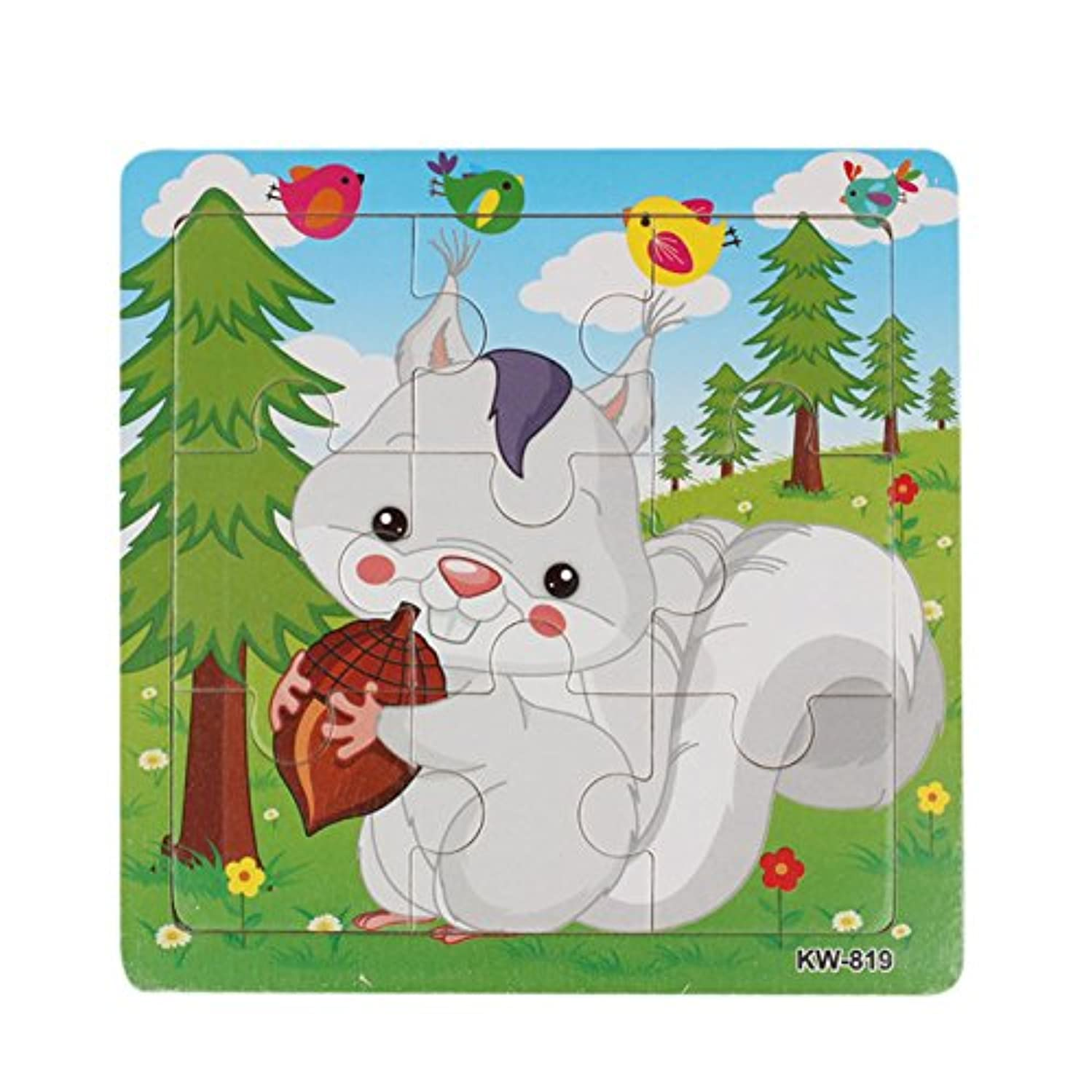 Joykith Puzzles Toys Wooden Kids Children Jigsaw Education and Learning Puzzles Toys Preschool Puzzles Tools for Toddler Children (D)