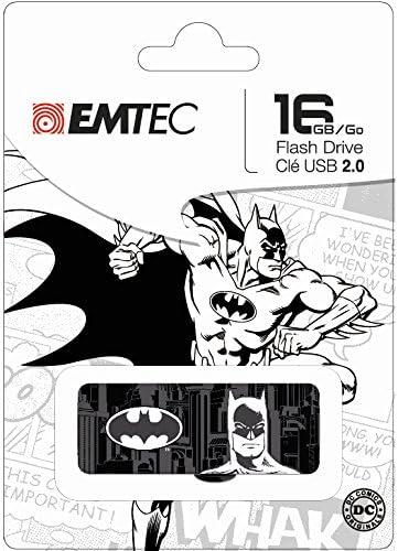 Emtec Black White 16GB Max outlet 88% OFF USB Flash SuperHero 2.0 Drive ECMMD16G
