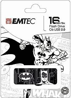 Emtec Black & White 16GB USB 2.0 SuperHero Flash Drive (ECMMD16GM700SP03)(Design may vary - Super Man, Batman, Wonder Women)