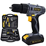 Uniteco 77PCS 18/20V Cordless Drill Screwdriver Tool Set Home Repair Set Combo...