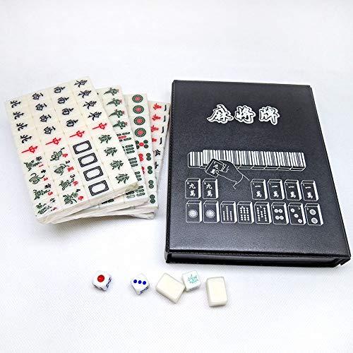 Puzzle Mahjong Juego Premium Talla Viajes majong Determinado del Juego, los 2CM Mini Juegos Tradicionales Chinos Majiang for el hogar Fiesta