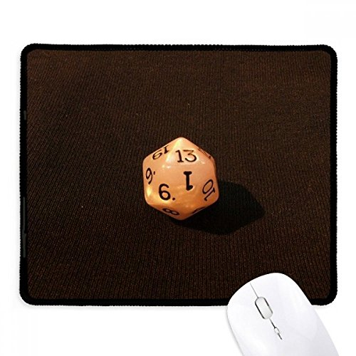 wit gokken dobbelstenen foto anti-slip muismat spel office zwart gestikte randen gift
