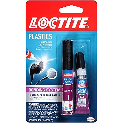 Loctite 681925 Super Glue Plastics Bonding System, Single, Multi