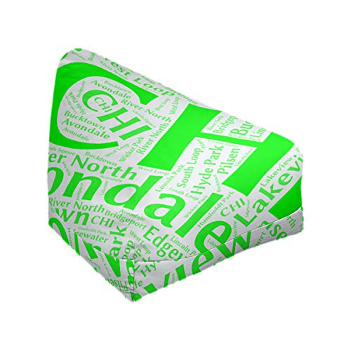 Affordable ArtVerse Rand Cites Chicago, Illinois Districts Word Art-Green Bean Bag Cover w/Inner She...