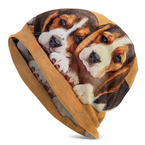 Lawenp Beagle Dog Puppies Knit Gorros para hombre y mujer, sombreros de invierno