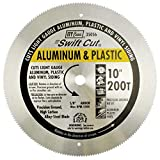 IVY Classic 35056 Swift Cut 10' 200 Tooth Aluminum & Plastic Cutting Circular Saw Blade with 5/8' Arbor, 1/Card