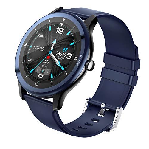 COULAX Smartwatch, Sportuhr mit 1.5 Zoll Touch Farbdisplay, IP68 Wasserdicht Fitness Armbanduhr mit Pulsmesser Schlafmonitor Musiksteuerung Schrittzähler, Fitness Smart Watch für Herren Damen