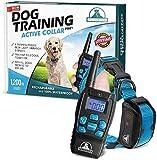 Pet Union PT0Z1 Premium Dog Training Shock Collar, Fully Waterproof, 1200ft Range (Blue)