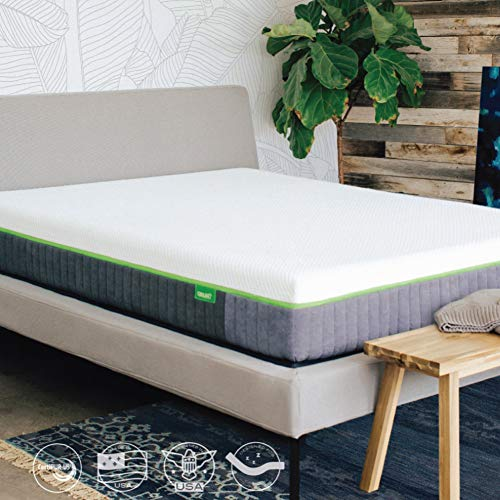 Cariloha Luxury Bamboo Mattress - Advanced Side-Wedge Support Signature Bamboo Comfort Foam - Luxury Memory Foam - Flex Flow Dual Density Base Foam - 100-Night Trial (Queen)